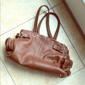 Prada Light Brown Leather Hobo Bag
